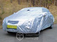 Тент АВТОПИЛОТ Серебристый с хлопковой подкладкой 170T silver laminated COTTON ( премиум )  для Nissan Almera Classic