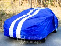Чехол тент на автомобиль «SPARCO», полиэстер, напыление из ПВХ, морозоустойчивый, синий,  для Nissan Almera Classic